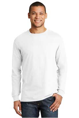 Picture of Hanes ®  Beefy-T ®  -  100% Cotton Long Sleeve T-Shirt.  5186