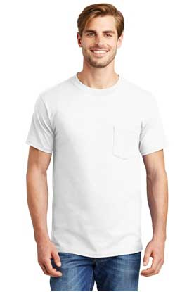 Picture of Hanes ®  Beefy-T ®  - 100% Cotton T-Shirt with Pocket. 5190