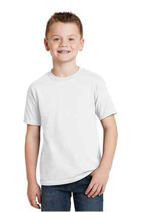 Picture of Hanes® - Youth EcoSmart ®  50/50 Cotton/Poly T-Shirt.  5370