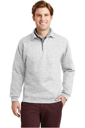 Picture of JERZEES ®  SUPER SWEATS ®  NuBlend ®  - 1/4-Zip Sweatshirt with Cadet Collar.  4528M