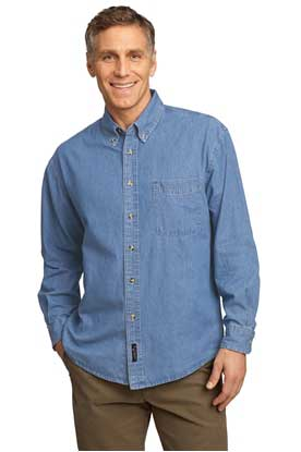 Picture of Port & Company ®  - Long Sleeve Value Denim Shirt. SP10