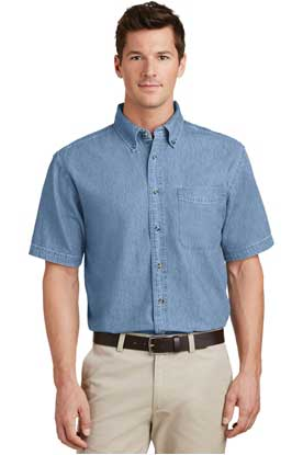 Picture of Port & Company ®  - Short Sleeve Value Denim Shirt. SP11