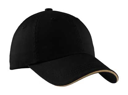 Picture of Port Authority ®  Sandwich Bill Cap with Striped Closure.  C830