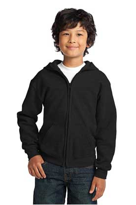Picture of Gildan ®  Youth Heavy Blend ™  Full-Zip Hooded Sweatshirt. 18600B