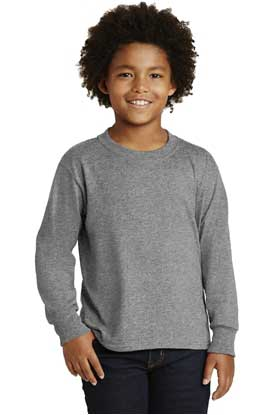 Picture of JERZEES ®  Youth Dri-Power ®   Active 50/50 Cotton/Poly Long Sleeve T-Shirt. 29BL
