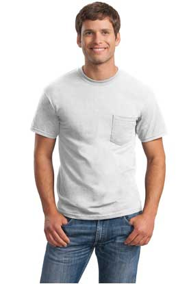 Picture of Gildan ®  - Ultra Cotton ®  100% Cotton T-Shirt with Pocket.  2300