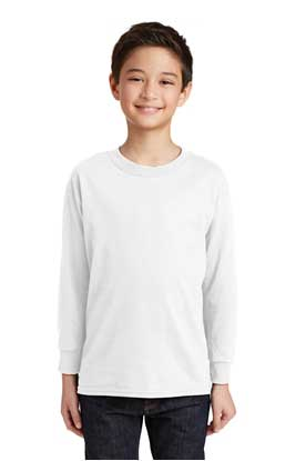 Picture of Gildan ®  Youth Heavy Cotton ™  100% Cotton Long Sleeve T-Shirt. 5400B