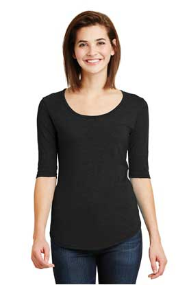 Picture of Anvil ®  Ladies Tri-Blend Deep Scoop Neck 1/2-Sleeve Tee. 6756L