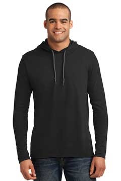 Picture of Anvil ®  100% Combed Ring Spun Cotton Long Sleeve Hooded T-Shirt. 987