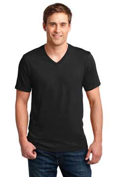Picture of Anvil ®  100% Combed Ring Spun Cotton V-Neck T-Shirt. 982
