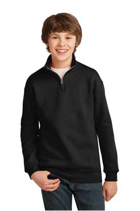 Picture of JERZEES ®  Youth NuBlend ®  1/4-Zip Cadet Collar Sweatshirt. 995Y
