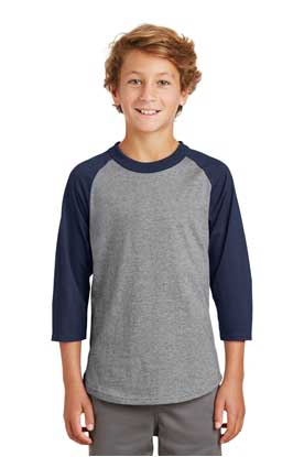 Picture of Sport-Tek ®  Youth Colorblock Raglan Jersey.  YT200