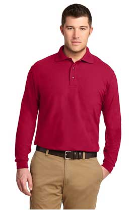 Picture of Port Authority ®  Silk Touch™ Long Sleeve Polo.  K500LS