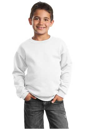 Picture of Port & Company ®  - Youth Core Fleece Crewneck Sweatshirt.  PC90Y