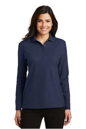 Picture of Port Authority ®  Ladies  Silk Touch™ Long Sleeve Polo.  L500LS
