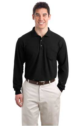 Picture of Port Authority ®  Long Sleeve Silk Touch™ Polo with Pocket.  K500LSP