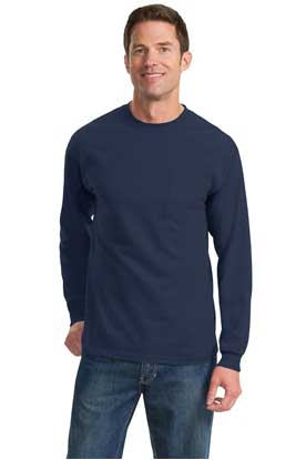 Picture of Port & Company ®  - Long Sleeve Essential Pocket Tee.  PC61LSP