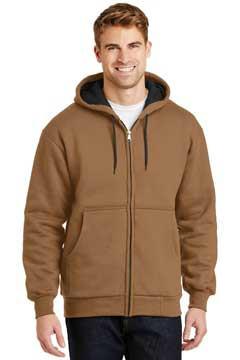 Picture of CornerStone ®  - Heavyweight Full-Zip Hooded Sweatshirt with Thermal Lining.  CS620