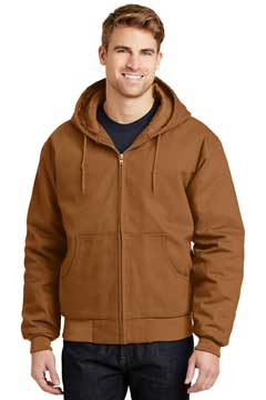 Picture of CornerStone ®  - Duck Cloth Hooded Work Jacket.  J763H