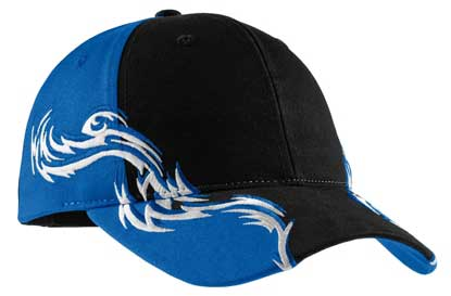 Picture of Port Authority ®  Colorblock Racing Cap with Flames.  C859