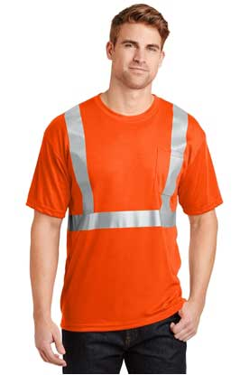 Picture of CornerStone ®  - ANSI 107 Class 2 Safety T-Shirt.  CS401