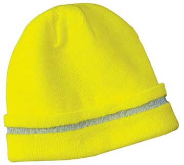 Picture of CornerStone ®  - Enhanced Visibility Beanie with Reflective Stripe.  CS800
