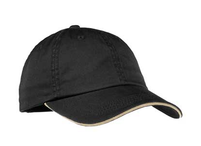 Picture of Port Authority ®  Ladies Sandwich Bill Cap with Striped Closure. LC830