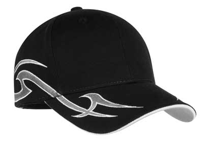 Picture of Port Authority ®  Racing Cap with Sickle Flames.  C878