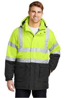Picture of Port Authority ®  ANSI 107 Class 3 Safety Heavyweight Parka. J799S
