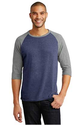 Picture of Anvil ®  Tri-Blend 3/4-Sleeve Raglan Tee. AN6755