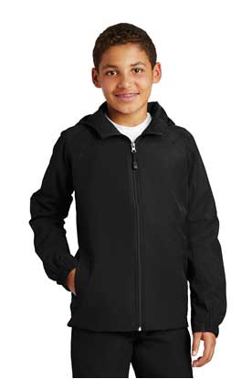 Picture of Sport-Tek ®  Youth Hooded Raglan Jacket. YST73