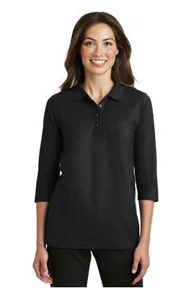 Picture of Port Authority ®  Ladies Silk Touch™ 3/4-Sleeve Polo. L562