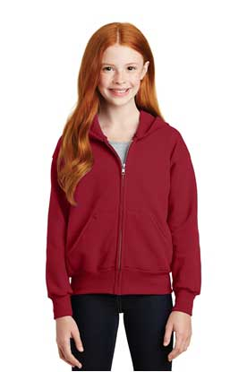 Picture of Hanes ®  - Youth EcoSmart ®  Full-Zip Hooded Sweatshirt. P480