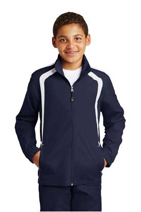 Picture of Sport-Tek ®  Youth Colorblock Raglan Jacket. YST60