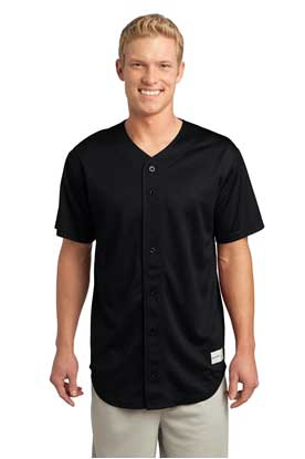 Picture of Sport-Tek ®  PosiCharge ®  Tough Mesh Full-Button Jersey. ST220