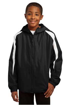 Picture of Sport-Tek ®  Youth Fleece-Lined Colorblock Jacket. YST81