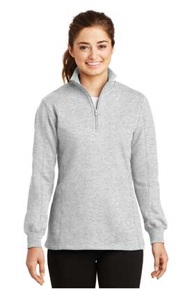 Picture of Sport-Tek ®  Ladies 1/4-Zip Sweatshirt. LST253