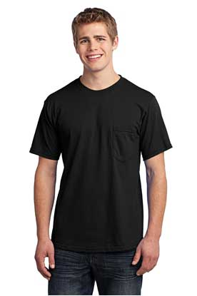 Picture of Port & Company ®  - All-American Pocket Tee. USA100P