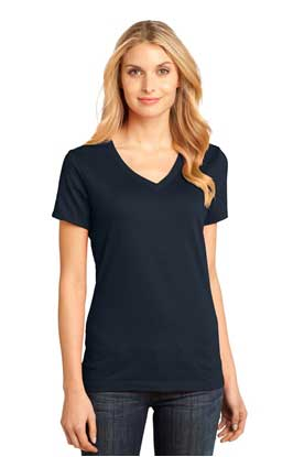 Picture of District Made ®  - Ladies Perfect Weight ®  V-Neck Tee. DM1170L