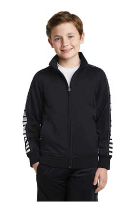 Picture of Sport-Tek ®  Youth Dot Sublimation Tricot Track Jacket. YST93