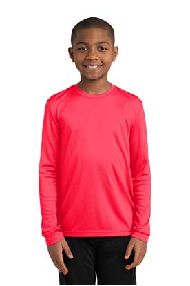 Picture of Sport-Tek ®  Youth Long Sleeve PosiCharge ®  Competitor™ Tee. YST350LS