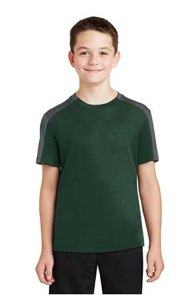 Picture of Sport-Tek ®  Youth PosiCharge ®  Competitor ™  Sleeve-Blocked Tee. YST354