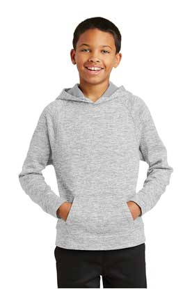 Picture of Sport-Tek ®  Youth PosiCharge ®  Electric Heather Fleece Hooded Pullover. YST225