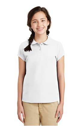 Picture of Port Authority ®  Girls Silk Touch ™  Peter Pan Collar Polo. YG503