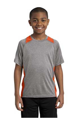 Picture of Sport-Tek ®  Youth Heather Colorblock Contender ™  Tee. YST361