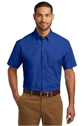 Picture of Port Authority ®  Short Sleeve Carefree Poplin Shirt. W101