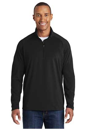 Picture of Sport-Tek ®  Tall Sport-Wick ®  Stretch 1/2-Zip Pullover. TST850