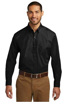 Picture of Port Authority ®  Tall Long Sleeve Carefree Poplin Shirt. TW100