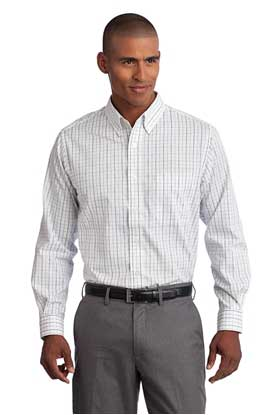 Picture of Port Authority ®  Tall Tattersall Easy Care Shirt. TLS642