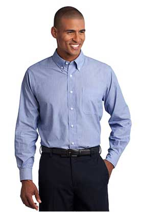 Picture of Port Authority ®  Tall Crosshatch Easy Care Shirt. TLS640